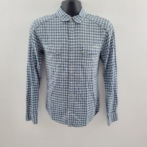 Lucky Brand pearl snap button down H72 S classic